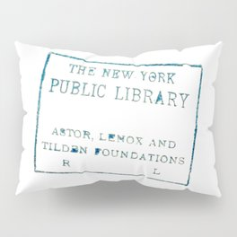 New York Public Library stamp Pillow Sham