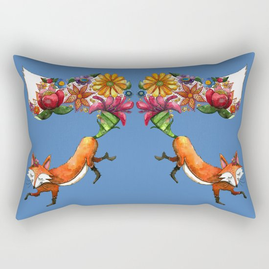 Hunt Flowers Not Foxes Two Rectangular Pillow