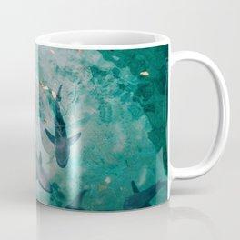 Shoal of Sharks (Color) Coffee Mug
