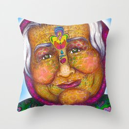 Wisdom Keeper Color #19 (Sensitivity) Throw Pillow