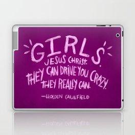 HOLDEN CAULFIELD ON GIRLS Laptop & iPad Skin