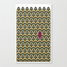 Rubine Feather Canvas Print