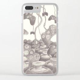 Raining Controllers on an Ocean of Joysticks Clear iPhone Case