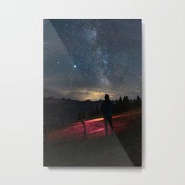 Night Camping Metal Print