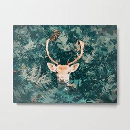 Oh Deer! Pop-art style / boho / influence / fall season Metal Print