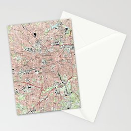 Greensboro North Carolina Map (1997) Stationery Cards