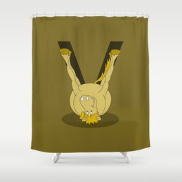 Monogram V Pony Shower Curtain