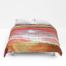 Mexican sunset Comforters