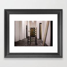 creepy chair Framed Art Print
