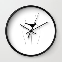 Butt Therapy Wall Clock