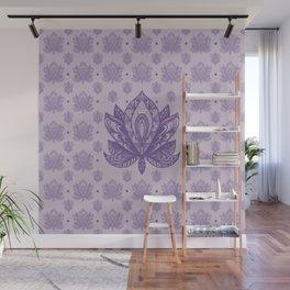 Gentle Pastel Purple  Lotus Flower Wall Mural