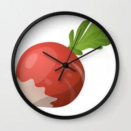 Cartoon Radish Food Wall Clock