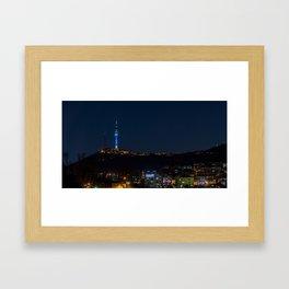 Seoul Tower at Night II Framed Art Print