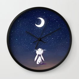 Moon Bunny Wall Clock
