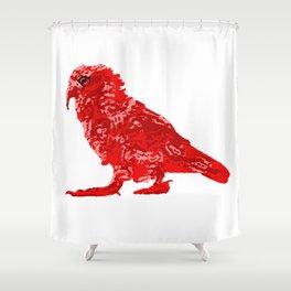 Kea Red Single Shower Curtain
