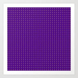 polk-a-dots orange on dark purple Art Print