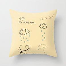 Raining Throw Pillow
