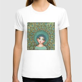 Peacock girl T-shirt