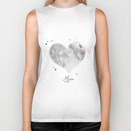 Moon in love Biker Tank