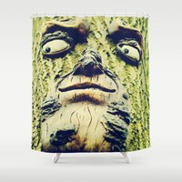 1984 Shower Curtains featuring Mother Nature is watching you -1984- by iGems
