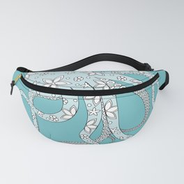 blue octopus Fanny Pack