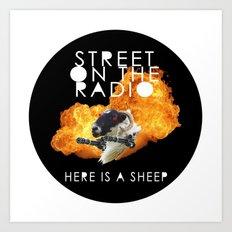 Here Is A Sheep Art Print