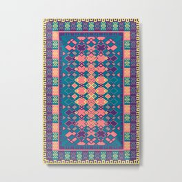 bright kilim rug Metal Print