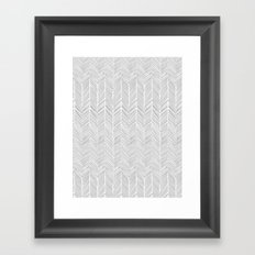 Freeform Arrows in gray Framed Art Print