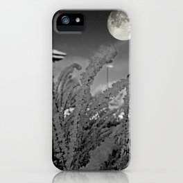 Snow crystals with moon iPhone Case