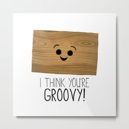 I Think You're Groovy! Metal Print