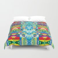 glitch Duvet Covers featuring glitch by Xenia Pirovskikh