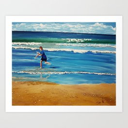 You throw the sand against the wind Art Print