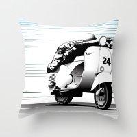 racing Throw Pillows featuring Racing by Don Paris Schlotman