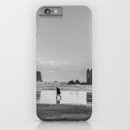 Walking on Cannon Beach Oregon iPhone Case