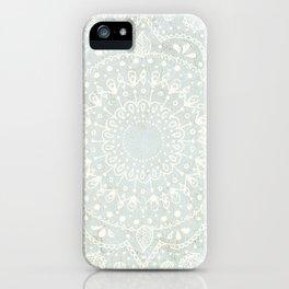 Powder Blue Mandala iPhone Case
