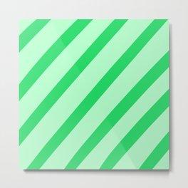 Leaf Stripes Metal Print