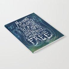 My Home is the Open Sea (Dark Night) Notebook