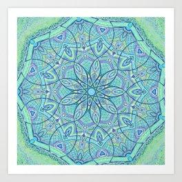 Heart of the Forest - Mandala Design Art Print