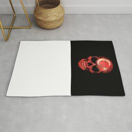 Dark Skull with Flag of Turkey Rug