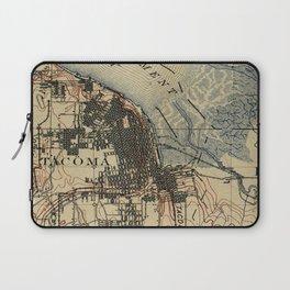 Vintage Map of Tacoma Washington (1895) Laptop Sleeve