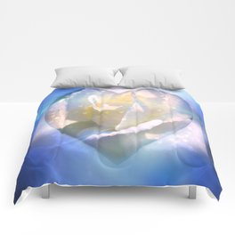 Forever Love Abstract  Comforters
