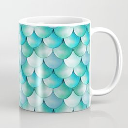 mermaid scales, turquoise shimmer Coffee Mug