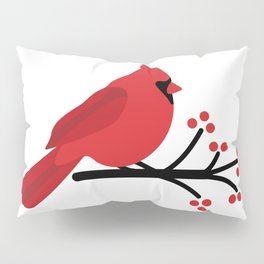 Cardinal on Branch Pillow Sham