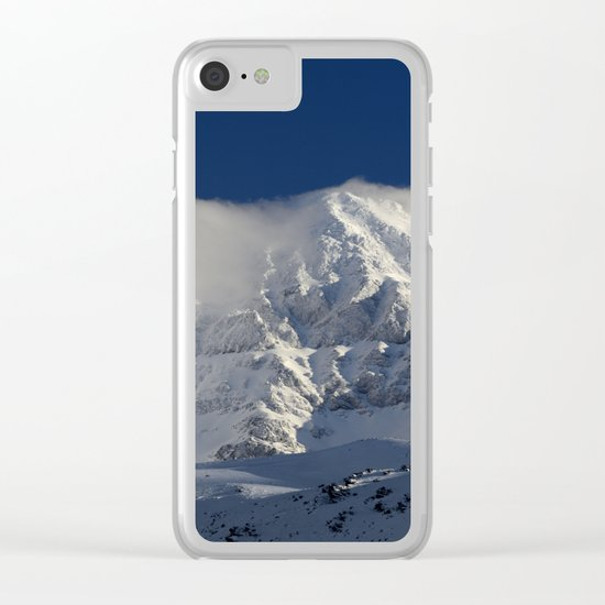 """Foggy mountains"". Alcazaba  mountain 3371 meters Clear iPhone Case"