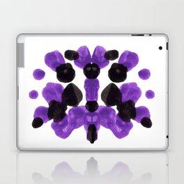 Purple And Black Inkblot Diagram Laptop & iPad Skin