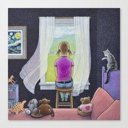 Tallulah Daydreaming Canvas Print