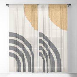 Mid century modern Sun & Rainbow Sheer Curtain