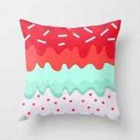 cupcake Throw Pillows featuring Cupcake by Kakel