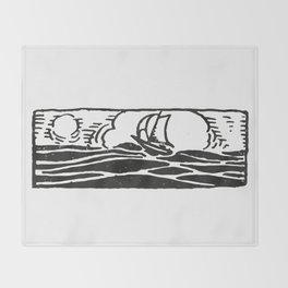 Little ship Throw Blanket