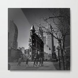 Gooderham  Black & White Metal Print